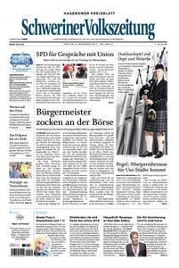 Schweriner Volkszeitung Hagenower Kreisblatt - 08. Dezember 2017