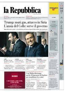 la Repubblica - 13 Aprile 2018