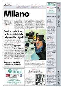 la Repubblica Milano - 22 Agosto 2018