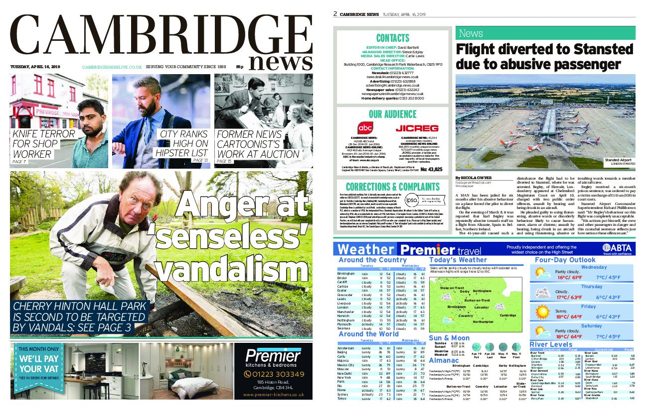 Cambridge News – April 16, 2019