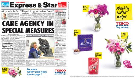 Express and Star Sandwell Edition – March 28, 2019