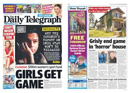 The Daily Telegraph (Sydney) – March 30, 2019