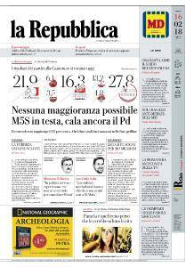 la Repubblica - 16 Febbraio 2018