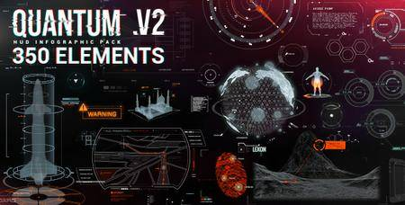 Quantum HUD Infographic V2 [350 Element] - Project for After Effects (VideoHive)