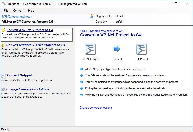 VB.Net to C Sharp Converter 5.06