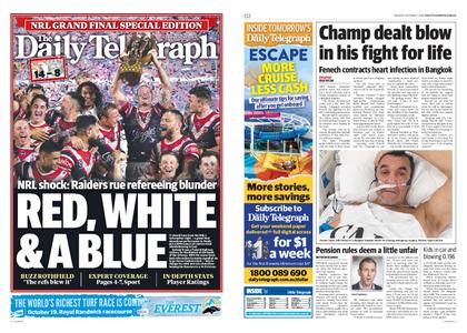 The Daily Telegraph (Sydney) – October 07, 2019