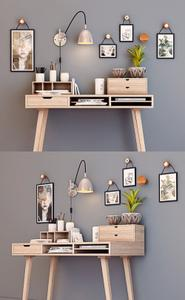 Desktop with decor