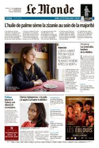 Le Monde du Dimanche 17 et Lundi 18 Novembre 2019