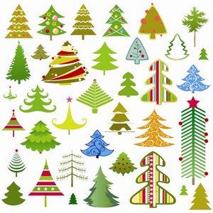 Fur-trees vector