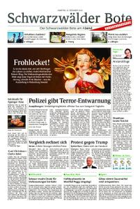 Schwarzwälder Bote St. Georgen, Triberg, Furtwangen - 22. Dezember 2018