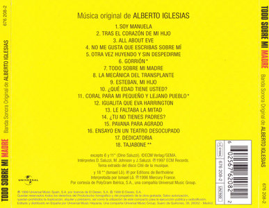 Alberto Iglesias - Todo Sobre Mi Madre: Banda Sonora Original (1999) (All About My Mother: Original Soundtrack)