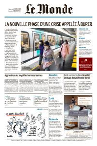 Le Monde du Mardi 12 Mai 2020