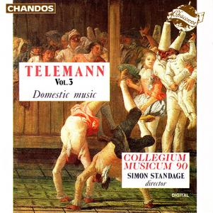 Simon Standage, Collegium Musicum 90 - Telemann: Domestic Music, Vol. 3 (1992)