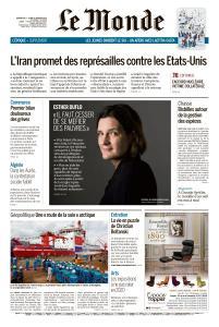 Le Monde du Dimanche 5 et Lundi 6 Janvier 2020