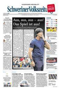 Schweriner Volkszeitung Hagenower Kreisblatt - 28. Juni 2018