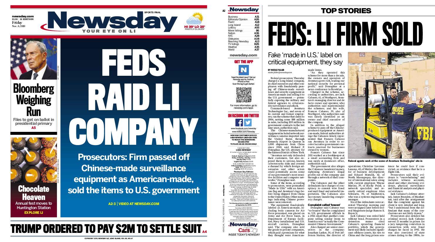 Newsday – November 08, 2019