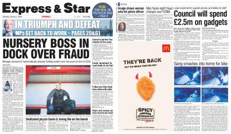 Express and Star Sandwell Edition – January 04, 2020