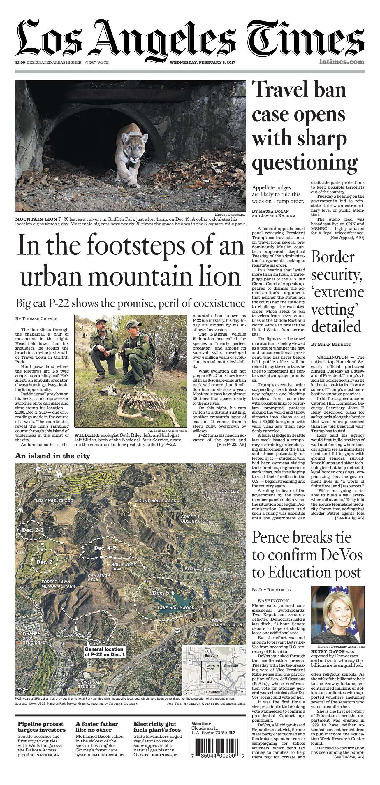 Los Angeles Times  February 08 2017