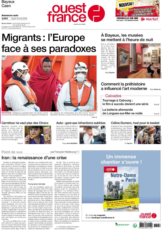 Ouest-France Bayeux Caen – 16 mai 2019