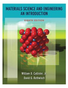 Materials Science and Engineering: An Introduction (8th Edition)