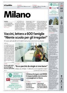 la Repubblica Milano - 20 Agosto 2018