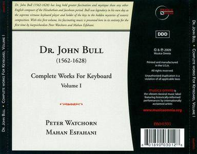 Mahan Esfahani, Peter Watchorn - Dr. John Bull: Complete Works for Keyboard, Vol. 1 (2009) 2 CDs