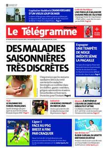 Le Télégramme Brest Abers Iroise – 10 janvier 2021