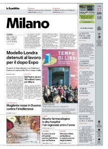 la Repubblica Milano - 27 Settembre 2018
