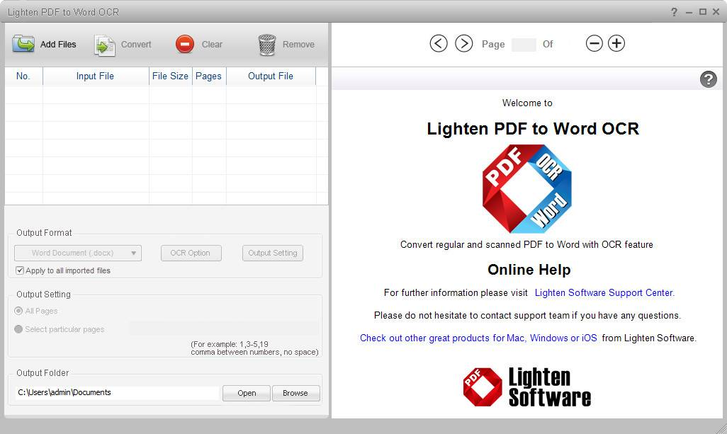 Lighten PDF to Word OCR 5.3.0 DC 31.08.2018 Multilingual