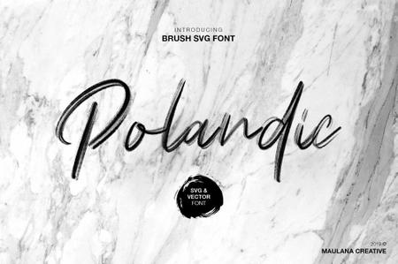 Polandic SVG Brush Font