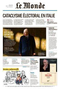 Le Monde du Mardi 6 Mars 2018