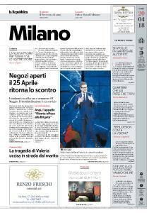 la Repubblica Milano - 20 Aprile 2018