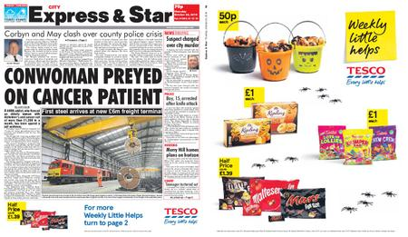 Express and Star City Edition – October 25, 2018