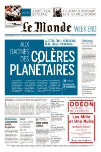 Le Monde du Samedi 9 Novembre 2019