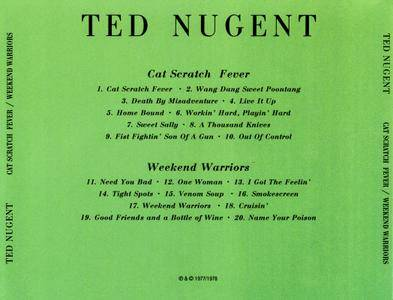 Ted Nugent Cat Scratch Fever 77 Amp Weekend Warriors 78