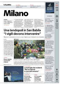 la Repubblica Milano - 3 Aprile 2018