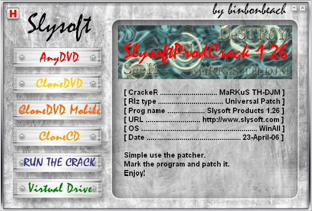 Slysoft Programs (UPDATE to 22/04/2006)