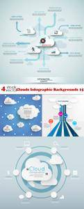 Vectors - Clouds Infographic Backgrounds 15