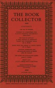 The Book Collector - Autumn, 1974