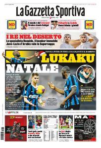 La Gazzetta dello Sport Roma – 22 dicembre 2019