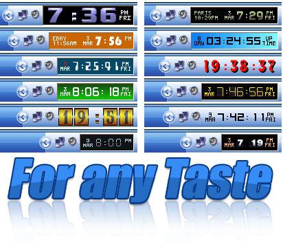 Clock Tray Skins ver. 3.0