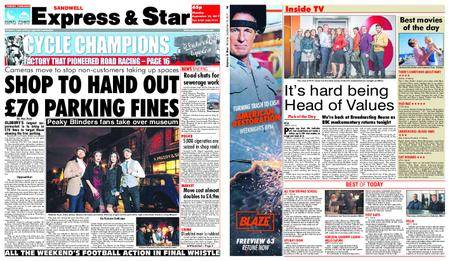 Express and Star Sandwell Edition – September 18, 2017