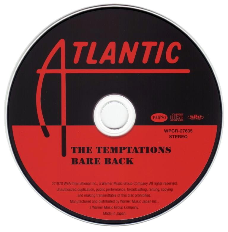 The Temptations - Bare Back (1978) [2013, Japan]