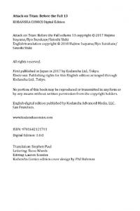 Kodansha-Attack On Titan Before The Fall 13 2021 Hybrid Comic eBook