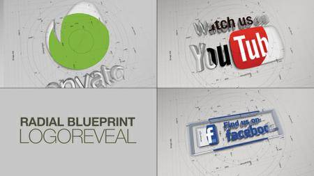 Radial BluePrint LogoReveal - Project for After Effects (VideoHive)