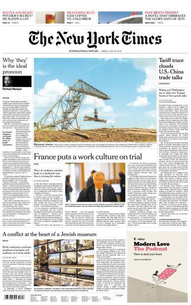 International New York Times - 12 July 2019