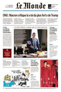 Le Monde du Jeudi 27 Septembre 2018