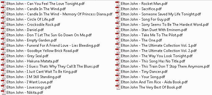 EltonJohn Sheet Music For Piano, Guitare, Lyrics