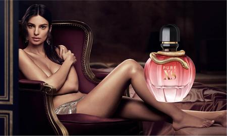 Emily Ratajkowski in Paco Rabanne's new perfume campaign 'Pure XS for Her'