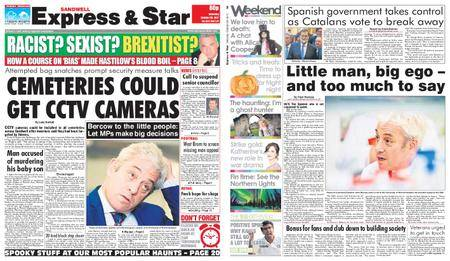 Express and Star Sandwell Edition – October 28, 2017